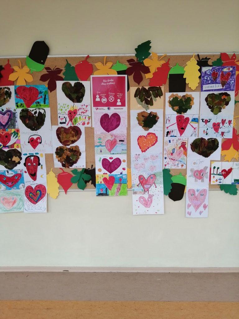 Akcija pasaulinei Širdies dienai paminėti Ukmergės užupio pagrindinėje mokykloje