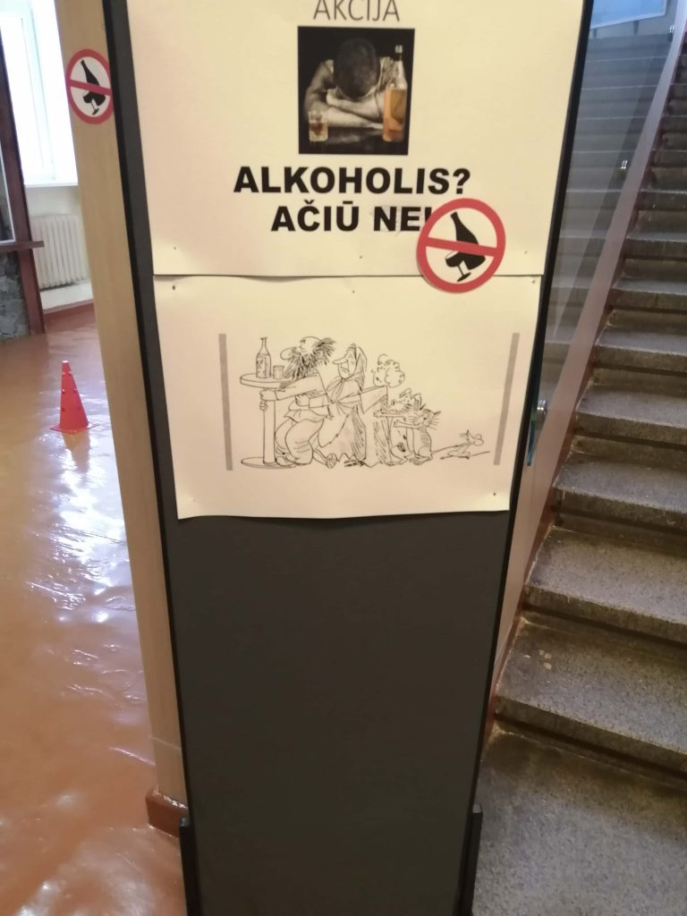 """PREVENCINĖ  AKCIJA – ,,ALKOHOLIS? AČIŪ, NE."""""""