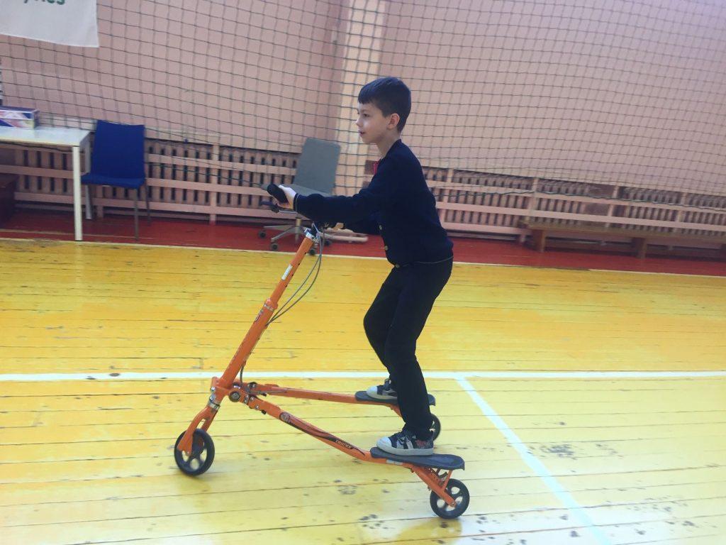 Užsiėmimai su sportiniais triračiais TRIKKE Dukstynos pagrindinėje mokykloje
